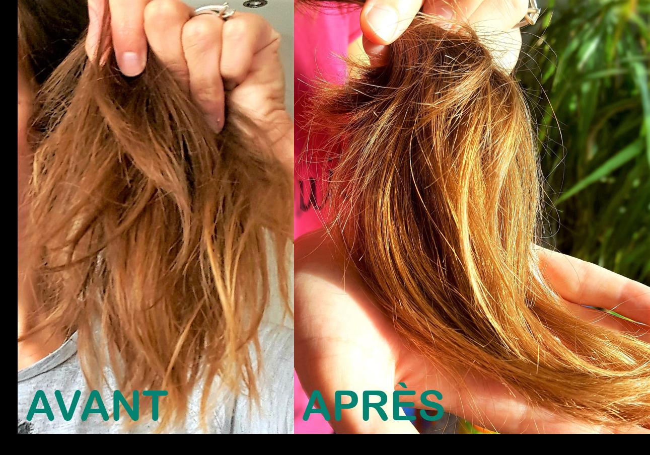 Masque cheveux atelier cosmétique diy Avant/Après Ophylor